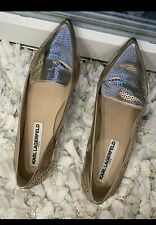 karl lagerfeld- Pointed Rose Gold Flats - Size 8