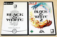 2 PC SPIELE BUNDLE - BLACK & WHITE 1 & 2 - KULT KLASSIKER