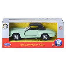 Welly 1:34 1955 Mercedes Benz 190SL Green Display Mini Car Miniature Car