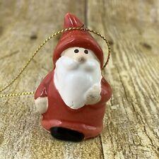 Red Gnome Miniature Ornament Ceramic Personalized Christmas Tree Figure Santa