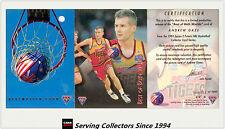 1994 NBL Australia Basketball Card S2 SAMPLE Best Of Both World BW3: Andrew Gaze