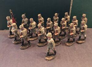 Elastolin: German Marching Infantry, c1940. 5cm Scale. Pre War