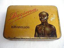 Alte Blechdose Decima Havanillos Zigarillos mit Afrikaner Motiv