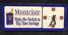 Vtg Cigarette Montclair Wall Clock 'Make The Switch To Big Time Savings' Rare