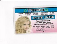 TENNESSEE  - the state of TN drivers License fake id card Country Music Star