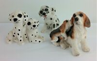 Stone Critters Sandicast Lot of Dogs Beagle Dalmatian Puppy Vintage