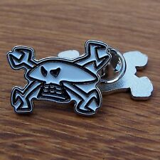 Motorcycle Biker Jacket Vest Racer Enamel Pin Badge GUY MARTIN Skull & Spanners