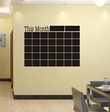 Art This Month Blackboard Vinyl Quote Wall Sticker Chalkboard Decal Chalk Board