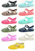 LADIES SPOT ON RETRO SUMMER BEACH JELLY SANDALS SHOES F0711