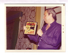 BOB KANE - 8 x 10 photo with Batman #1 at the 1973 New York Comicon.