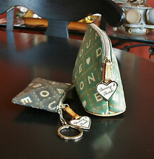 DOONEY & BOURKE Signature Cosmetic Case & Card Case Key Fob