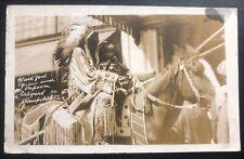 1926 Canada RPPC Postcard Cover Native American Indian Calgary Stampede