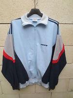 VINTAGE Veste ADIDAS LASER bleu ciel Ventex made in France jacket tracktop 180 L