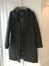 Woolrich Ladies Dark Brown Parka Padded Coat Down Jacket  Size M 8 10 12 UK