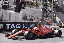 Sebastian Vettel SIGNED 12x8, F1 Scuderia-Ferrari SF17-T  Monaco Grand Prix 2017