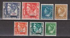 Nederlands Indie Indonesie 326-332 MNH Opdruk 1947 Netherlands Indies