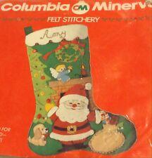 Ruth Morehead Christmas Stocking Kit Felt JOLLY SANTA Columbia Minerva Sealed