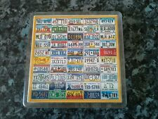 License Plates of America Coaster. NEW. Acrylic. The 50 Different States.
