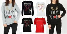 Waist Length Viscose Christmas Jumpers & Cardigans for Women