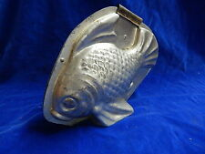 MOULE A CHOCOLAT ANCIEN / Old chocolate mold - POISSON / Fish - ART DECO ! TOP !