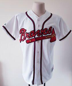 MLB Atlanta Braves Majestic Baseball White Jersey size L