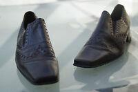 edle GABOR Damen Schuhe Pumps Absatz vintage braun Gr.6 / 39 39,5 Leder TOP