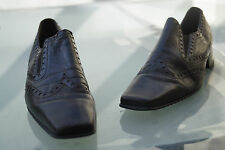 edle GABOR Damen Schuhe Pumps Absatz vintage braun Gr.6 / 39 39,5 Leder TOP #18