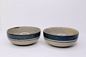 Set Of 2 Otagiri Mariner Stoneware Cereal/Rice/Soup Bowls Japan