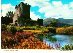 Ross Castle Killarney Ireland Vintage John Hinde Giant Postcard