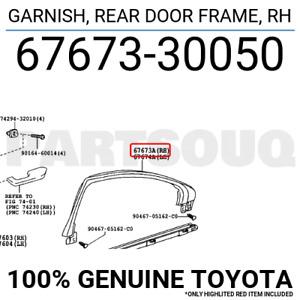 6767330050 Genuine Toyota GARNISH, REAR DOOR FRAME, RH 67673-30050