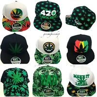 Leaf snapback caps, marijuana, cannabis, leaf hip hop baseball hats, weed mens