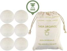 XL Organique Sèche-linge Boules 100% Nouvelle-Zélande Laine Naturelle, Textile,