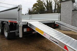 Aluminium Vehicle  Loading Trailer Ramps - 3300KG 2.4m / 8ft