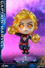 Hot Toys Captain Marvel Fighting Ver Bobble-Head Avengers:Endgame Cosbaby Figure