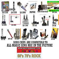 ENTERTECH MAGIC SING KARAOKE MIC POP 2 60's 70's 80's ROCK SongChip