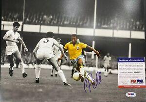 Pele Signed 11x14 Photo PSA DNA Authenticated Soccer Brazil