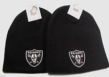 New 2x Oakland Raiders Official licened NFL Knit Beanie hats