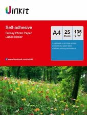 A4 Self Adhesive High Glossy Photo Paper Inkjet Paper 135Gsm - 25 Sheets Uinkit