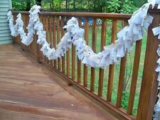 Wedding Natural Burlap Lace Ivory Garland 10ft.- Decoration Rastic chic