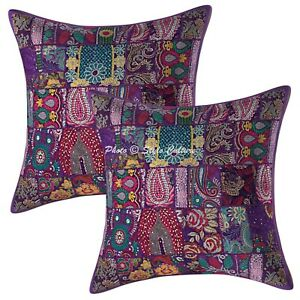Abstract Cushion Covers 60 x 60 cm Patchwork Cotton 24 x 24 Boho Throw Pillows