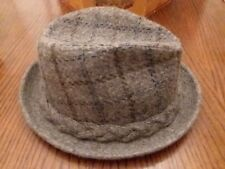 53a9506a90b Vintage Knox New York Fedora Hat Wool Tweed M 7-7 1 4 Dunlap