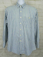 Vtg Polo Ralph Lauren Collared Shirt Mens Large 16 34/35 Blue Striped Loose 90s