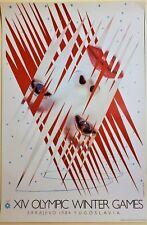 JAMES ROSENQUIST Original SARAJEVO XIV WINTER OLYMPIC GAMES 1984 Lithograph ICE