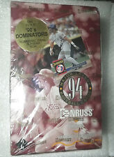 "1994 DONRUSS SERIES 2 BASEBALL FACTOR SEALED BOX + 1 DOMINATOR CARD 3 1/2"" x 5"""