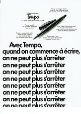 Publicité Advertising 038  1970   stylo feutre nylon Tempo
