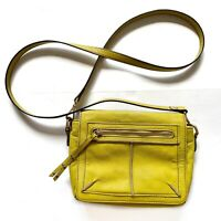 Steven by Steve Madden Yellow Leather Crossbody Purse