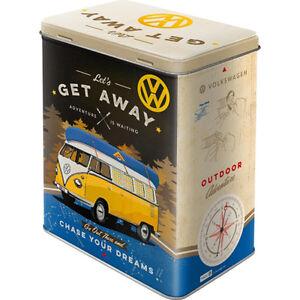 VW Volkswagen Bulli T1 50s Oldtimer Box Vintage Autobus Campeggio Stagno Lattina
