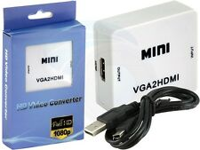 HD 1080P USB Mini VGA Audio To HDMI VGA2HDMI Video Converter Adapter
