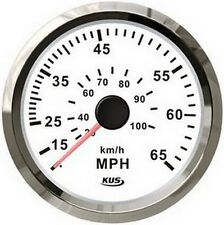 85mm white speedometer 0-65MPH for marine boat CPOB-WS-65 (SV-KY18103)