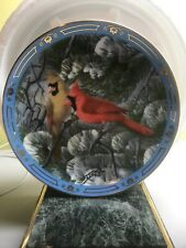 "Danbury Mint Decorative Plate: Derk Hansen ""Fire In The Snow"" (ff)"